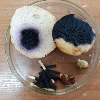 Wykrywanie skrobi w produktach spożywczych.